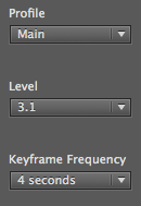 Keyframe frequency
